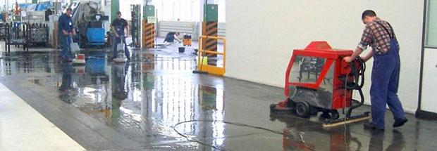 Fußbodenreinigung