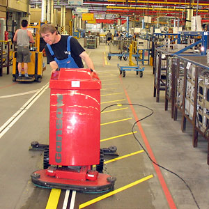 Industrie Fußbodenreinigung
