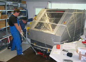 Maschinenumzug Transportvorbereitung